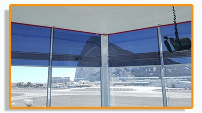 Our Anti -glare blinds blinds have been fitted to gibrator air traffic control tower