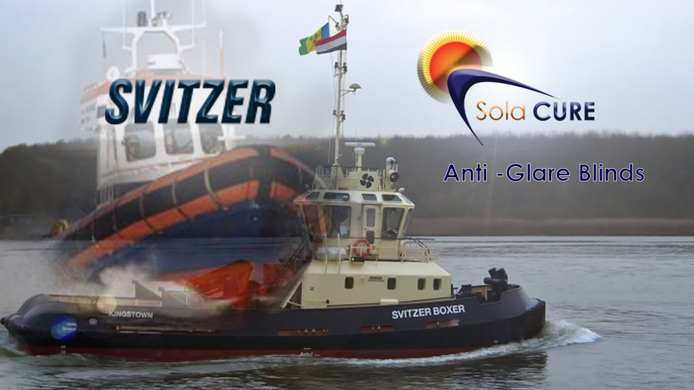 sola cure anti glare and marine are fitted on svitzer ships